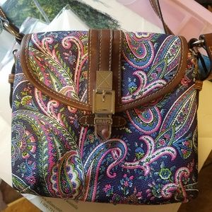Chaps crossbody purse with built in wallet